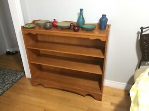 SOLID ROXTON MAPLE BOOKCASE BOOK SHELF
