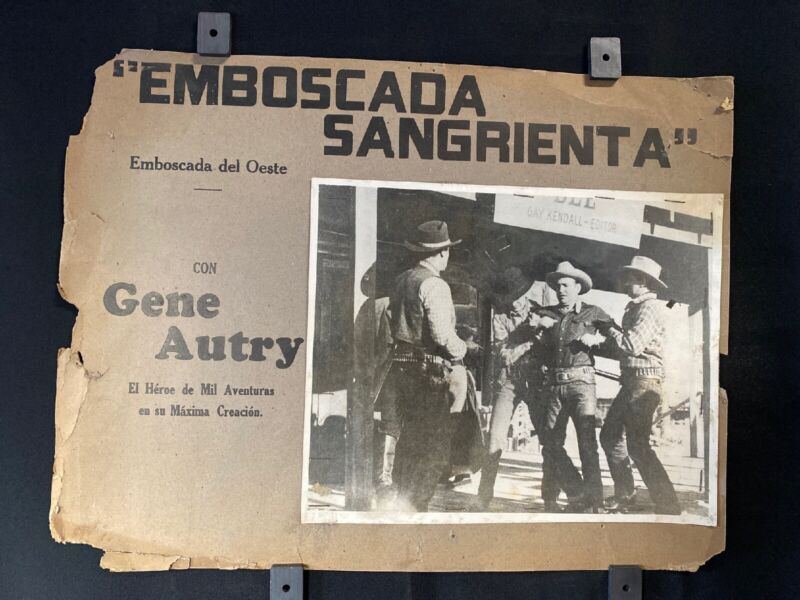 """1935 GENE AUTRY The Phantom Empire Original Mexican Lobby Card Blck/Whte 16""""x12"""""""