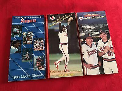 (1980-2018 MLB California Angels media guide / You pick 'em / Anaheim / Salmon )