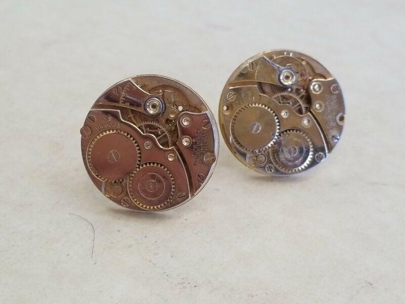 Vintage Brass Watch works cuff links