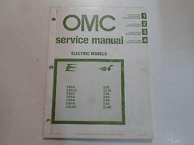 1981 OMC Electric Models 12 24 volt Service Repair Shop Manual MINOR STAINS OEM