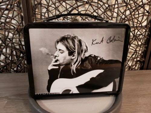 "NIRVANA ""KURT COBAIN"" METAL LUNCH BOX WITH MATCHING THERMOS BY NECA 2005"