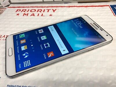 Nice Samsung Galaxy Note 3 White 32GB Factory Unlocked N900V Android Smartphone