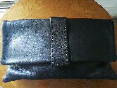 IL BISCONTE LEATHER CLUTCH NEW - AUTHENTIC