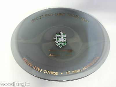 1973 SAINT ST. PAUL LADIES OPEN  GOLF TOURNAMENT GLASS DISH KELLER COURSE TRAY