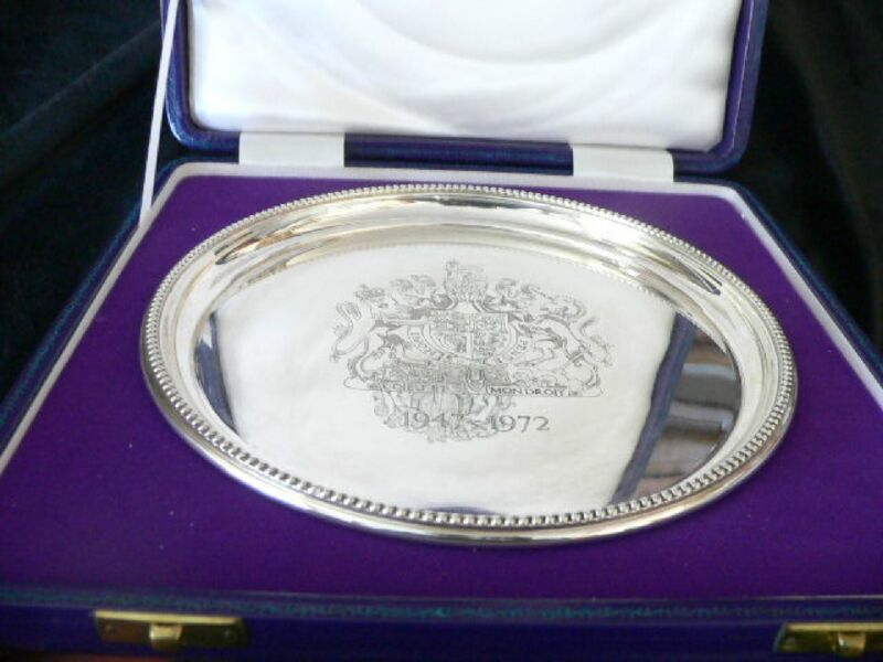 ENGLISH COMMEMORATIVE STERLING SALVER
