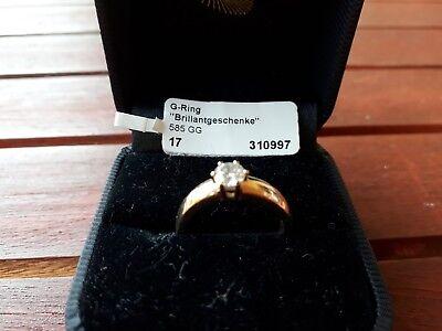Diamant-Solitär, Halbkaräter, 0,5 Karat, 585er Gelbgold