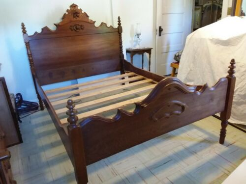 REDUCED! Antique Victorian Eastlake Bed