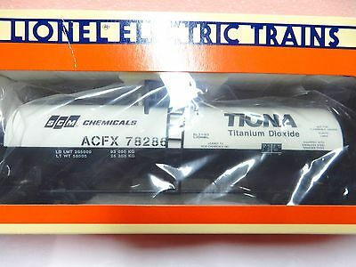 Lionel 6-17906 SCM Uni - body single dome tank car for O gauge freight train-new
