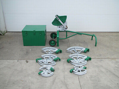 Greenlee 1818 Mechanical Ratchet Pipe Bender 12 - 2 W 6 Shoes Storage Box