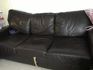 Leather lounges Macquarie Fields Campbelltown Area Preview