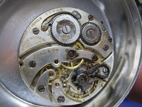 38.4mm Gruen Verithin Precision V4 OF pocket watch movement
