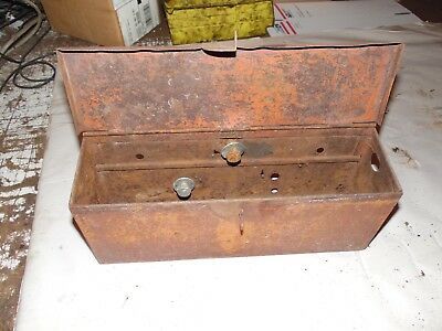 Allis Chalmers Wd-45 Farm Tractor Tool Box Assembly Minor Rust Damage