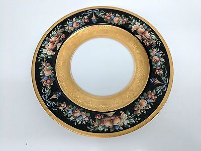 Gorgeous Antique Black Knight Plate Black With Gold Encrusted  Free Shipping