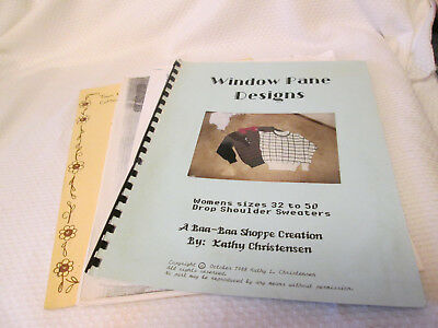 Machine Knitting Patterns Lot Window Pane- Harriet Tonns Vests etc.  - Knitting Patterns Knitting Machines
