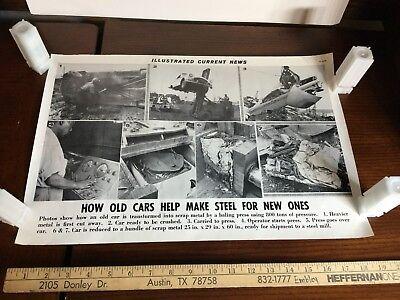 Illustrated Current News Photo - Scrap Metal Steel Mill Cars Junker