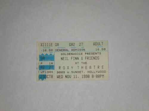 Neil Finn & Friends Sheryl Crow Ticket Stub-1994-Roxy Theatre-W Hollywood,CA