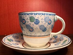"""Barratt's of Staffordshire Teacup and Saucer """"London"""" Pattern"""