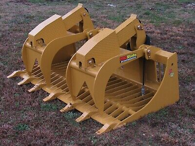 72 Severe Duty Rock Grapple Bucket Skid Steer Loader Attachment Fits Cat Deere