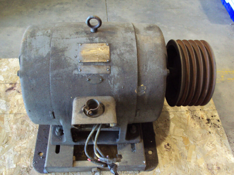 GE General Electric 30 HP 3 Phase Motor Frame 326U 440 Volt RPM 1770 AMPS 37