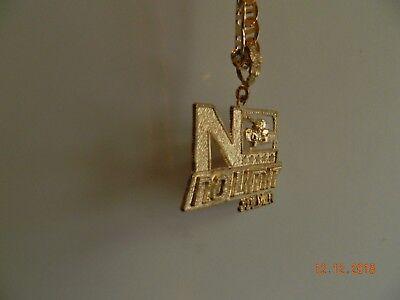 MIP-Gold Tone No Limit Soldier pendant w/ matching 30 inch hip hop chain