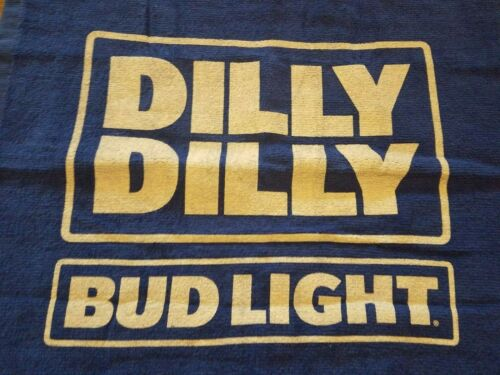 BUD LIGHT DILLY DILLY TOWEL BLUE & WHITE BUD LIGHT HAND TOWEL