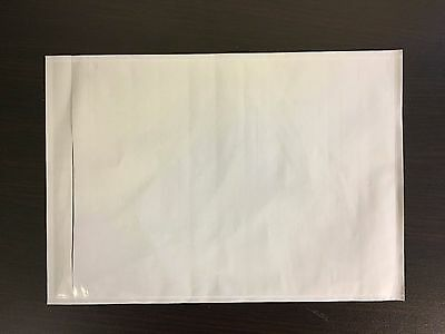 1200 7x10 Clear Adhesive Packing Slip Invoice Shipping Label Envelope Pouch Bag