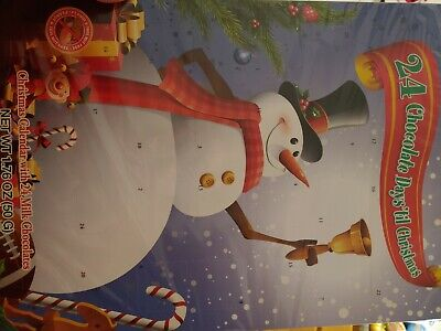 NEW! Snowman 24 Chocolates Holiday Christmas Advent Calendar FAST SHIP