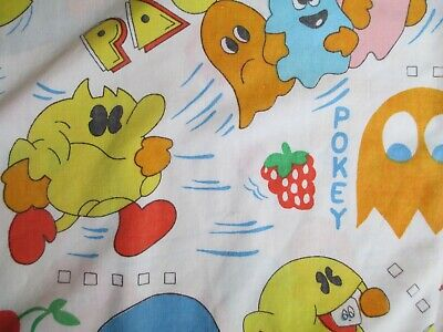 Vintage, PAC-MAN Twin Size Flat Sheet by Bally/Midway MFG. Co.