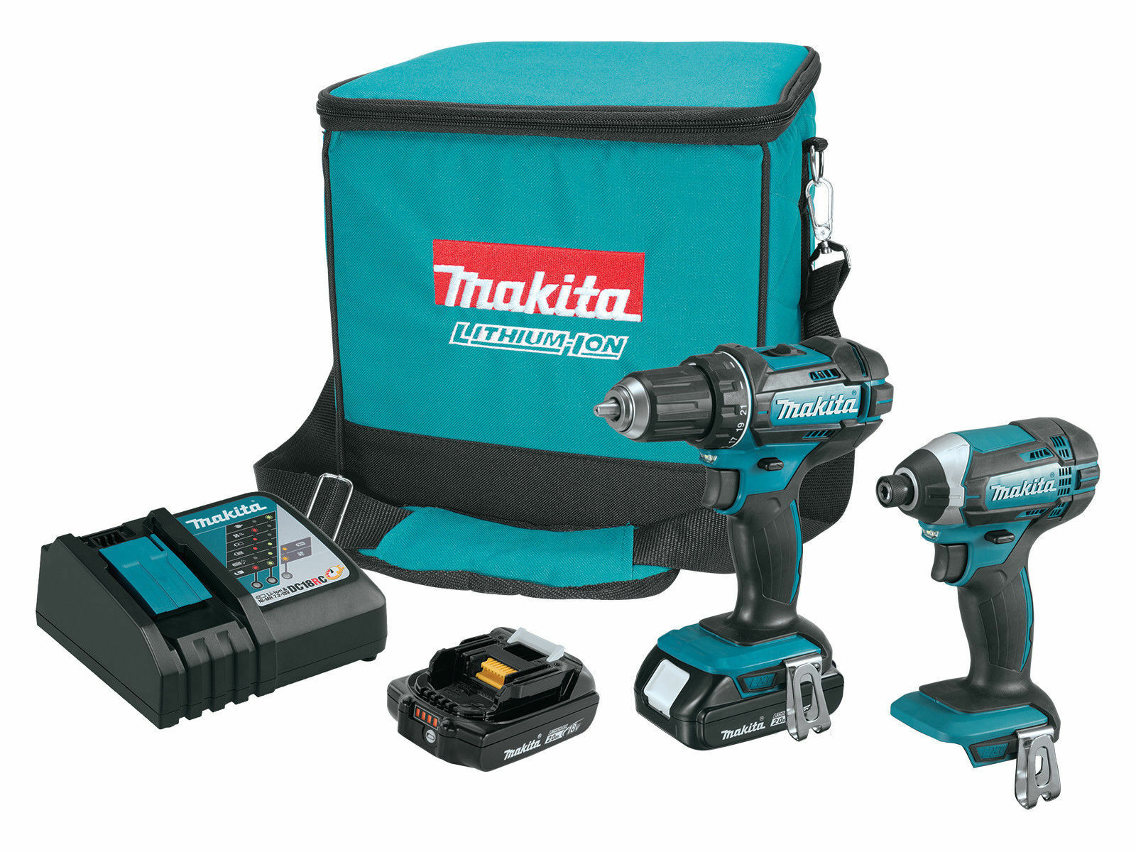 NEW Makita CT225R 18V Compact Lithium-Ion Cordless 2-Piece C