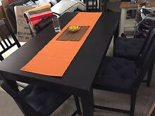 Ikea Bjursta table and 6 chairs with cushions East Perth Perth City Preview