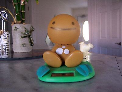 RARE!!! 2002 Tomy NoHoHon Solar Bobble Head  Brown (Mustard) Figure Body