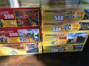 Jigsaw puzzles- most large size pieces and 300-500 pieces