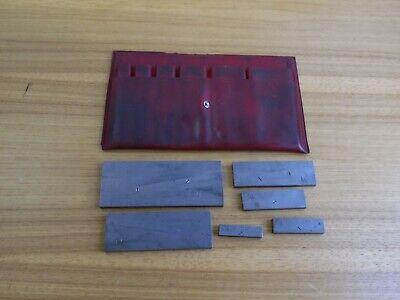 Vintage Lufkin No. 915-5 6 Pc. Adjustable Parallel Set In Original Pouch