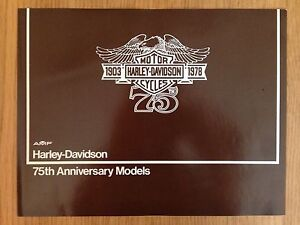 1978 Harley Davidson AMF Brochure 75th Anniversary Ad Sales Flyer Sportster NICE