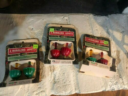 Vintage Christmas Bubbling Lights Acla Electric Set of 3 No 622 New old stock