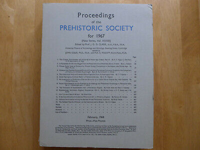 Proceedings Of The Prehistoric Society 1967