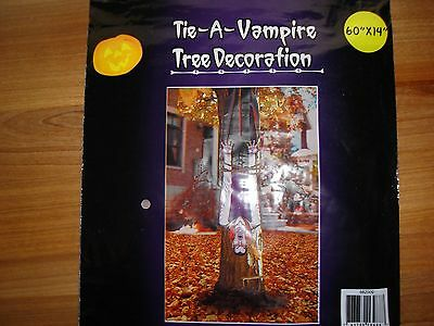 Tie - A - Vampire Door Wall Tree Yard Cover Halloween decoration outdoor mural! - Halloween Outdoor Tree Decorations