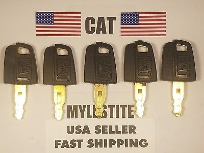 5 Cat Keys Caterpillar Excavator Cat Dozer Cat Roller Key Cat Skid Steer.