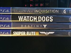 PS4 games (brand new)