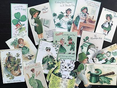 BB70 -- Lot of 15 Vintage St Patrick's Day DIE CUTS for CARD MAKING