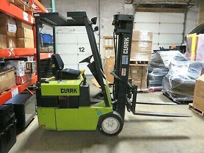 Clark Tm155 Electric Forklift Type E 2300 Lb Capacity Only 944 Hours 36v