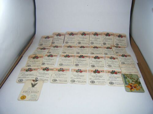 Vintage 1964-1967 LotOf 30  BSA Merit Badge & Boy Scout Cards safety, first aid