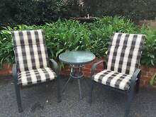 2 Outdoor Chairs and Small Round Table Canterbury Boroondara Area Preview