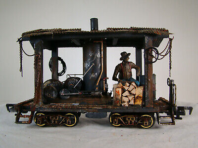 G scale Logging Steam Donkey with Logger - custom built and weathered, used for sale  Shipping to Canada