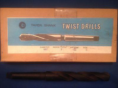NIB Taper Length Twist Drill High Speed Steel 22mm Imported 5-Pack
