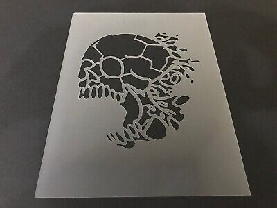 Halloween Airbrush (Skull #22 Stencil 10mm or 7mm Thick, Crafts, Skulls, Tattoo, Airbrush,)