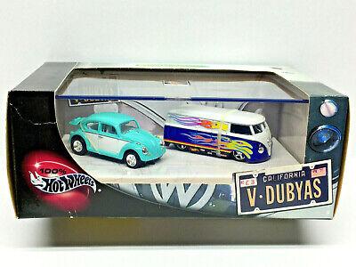 Hot Wheels 100% Collectibles VOLKSWAGON V-DUBYAS Limited Edition (2) Car Set