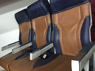 SouthWest Airplane Seats Boeing 737 with seatbelts and back drop tray