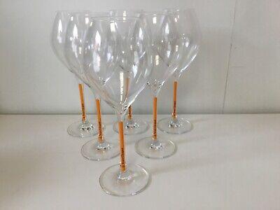 6 x Veuve Clicquot Champagner Gläser Trendy Flute Prestige 0,1l NEU